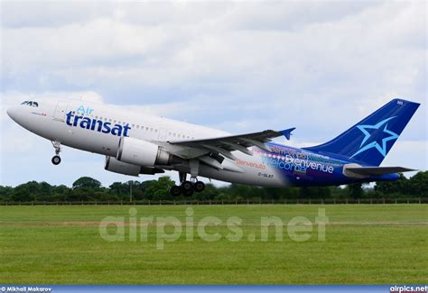 air transat login airpics net c glat airbus a310 300 air transat large size