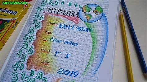 como dibujar caratulas  matematica caratulas