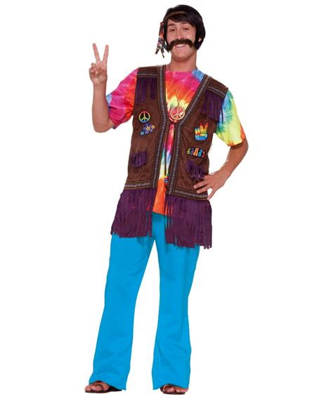 Hippie Peace Vest Adult Costume - Hippie Costumes