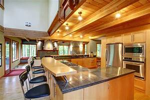 eclectic mix of 42 custom kitchen designs With large u shaped kitchen designs