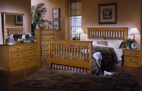 Bedroom Furniture Stores Carolina by Carolina Furniture Carolina Oak 4 Slat Bedroom Set