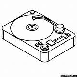 Turntable Coloring sketch template