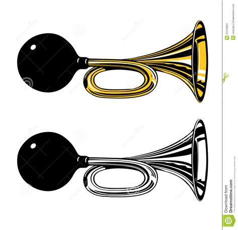 Change Car Horn Sound by Vintage Air Horn With Rubber Bulb Stock Image Image