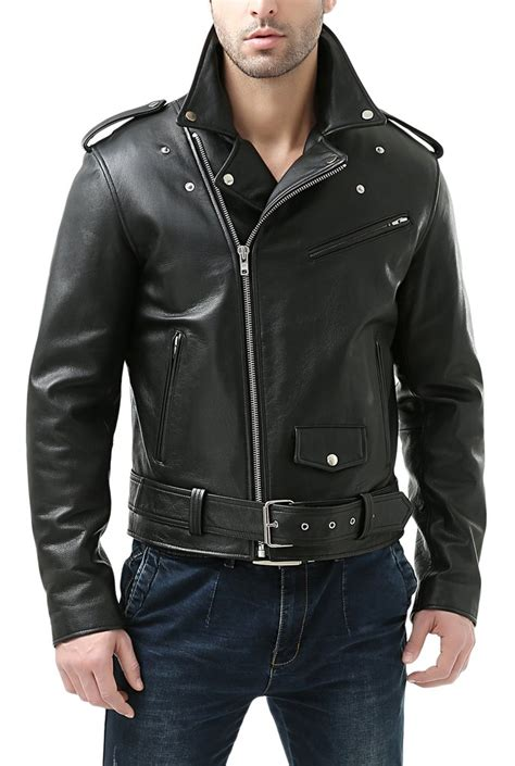 Cowhide Motorcycle Jacket by Bgsd S Classic Cowhide Leather Motorcycle Jacket