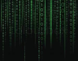 Stream on binary codes on black background | Stock Vector ...