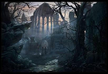 Gothic Artwork Dark Locations Russell Goth Background