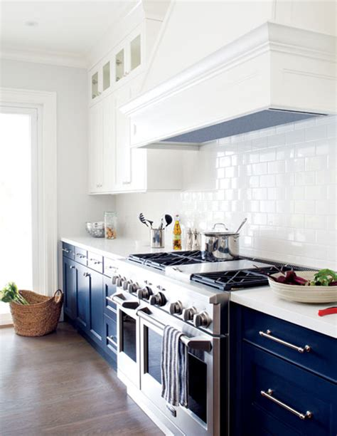 blue and white kitchen cabinets having a moment navy and white kitchen cabinets lauren