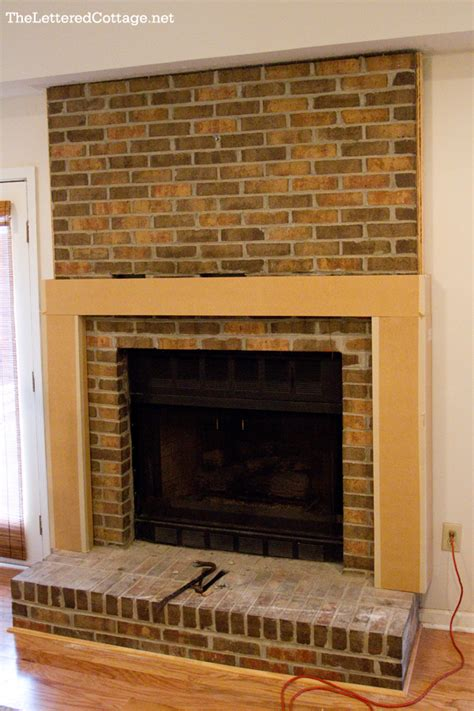 Red Brick Fireplace Makeover