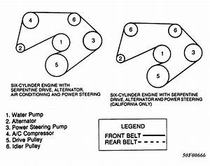 1988 Jeep Wrangler Serpentine Belt Routing And Timing Belt