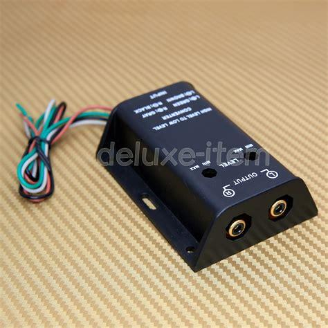 high low converter rca car audio line level converter output hi low level ebay
