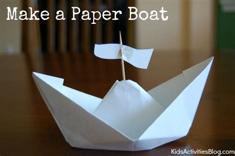 paper boat columbus day activities