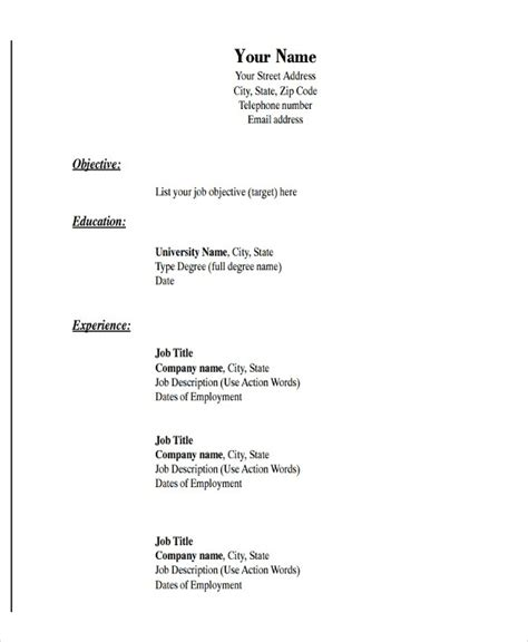 19347 pdf resume templates simple resume format in word 7 resume word file