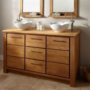 Meuble Et Vasque Salle De Bain : le meuble salle de bain double vasque convient une ~ Dailycaller-alerts.com Idées de Décoration