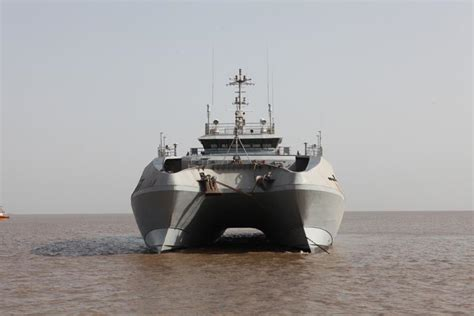 Catamaran Ship Navy by Indian Navy Commissions Ins Makar Catamaran Survey Ship