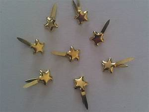 100 mini stars gold studs paper fasteners for craft With paper fasteners wedding invitations