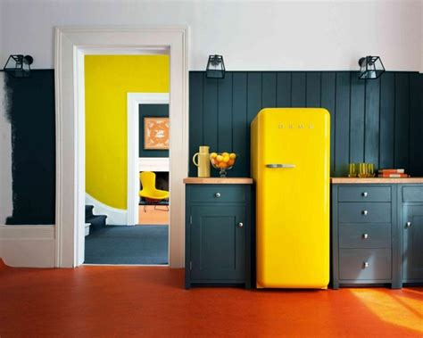 cuisine noir et jaune couleur de cuisine en 50 idées modernes et inspirantes