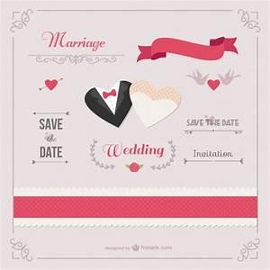 romantic wedding invitation template vector free download With wedding invitation template freepik