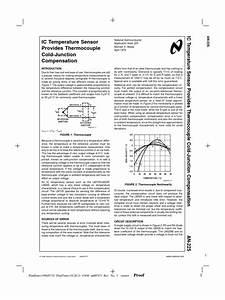 Ic Temperature Sensor Provides Thermocouple Cold