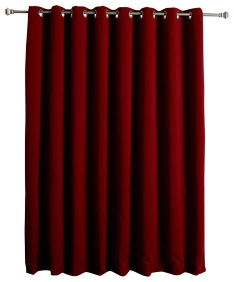 thermal blackout curtain with wide width grommet top 100
