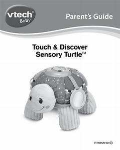 Vtech Touch And Discover Sensory Turtle  Plush Learning