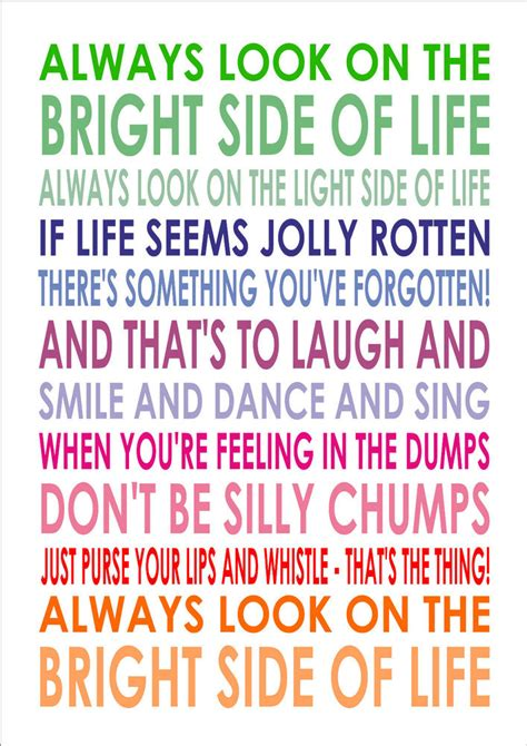 always look on the bright side of lyrics monty python a4 poster print ebay
