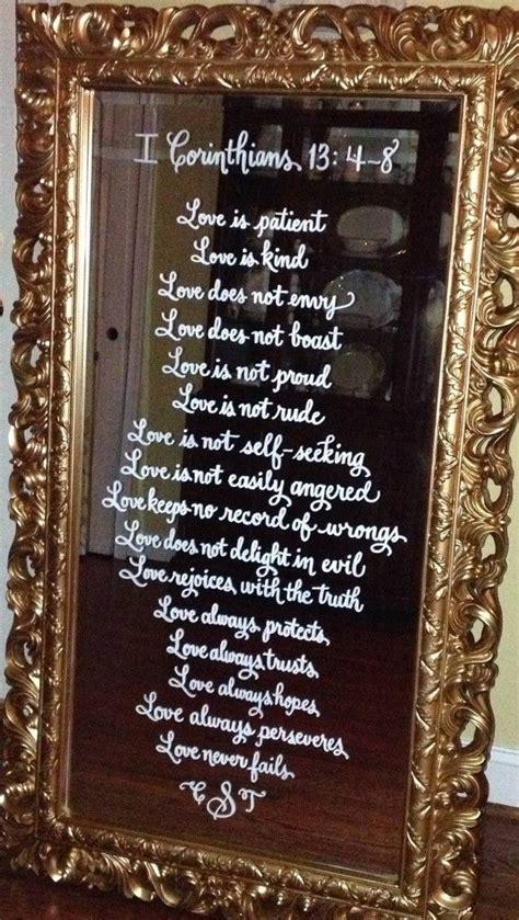 writing   mirror    tutorial wedding mirrors