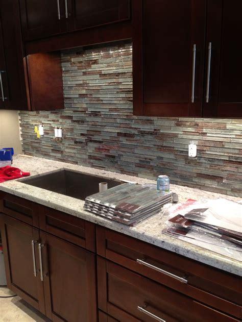 Glass Tile Backsplash For Condo Kitchen Condo