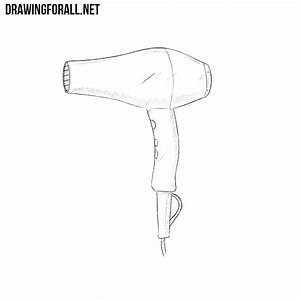 How To Draw A Hair Dryer
