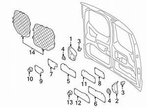 Ford Transit Connect Door Trim Molding  Rear   W  Rear