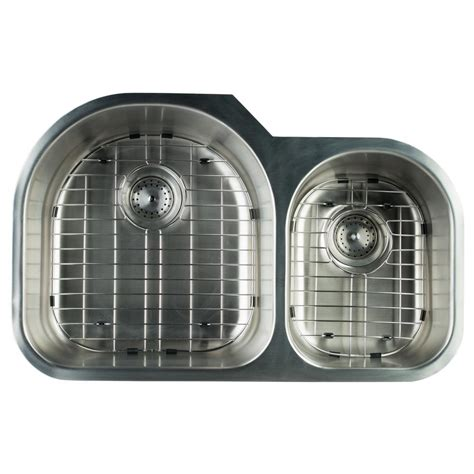 glacier bay undermount stainless steel 31 in 0 hole