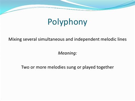One of the marks of worldly music is the exultation in a worldly isn't a sound; Secular music and polyphony