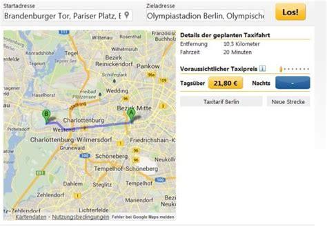 taxikosten hamburg berechnen berechnung taxikosten