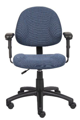 deluxe posture chair with adjustable arms blue