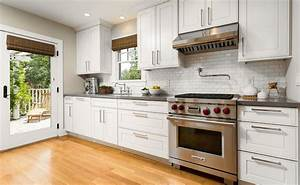 mini subway tiles traditional kitchen robert frank With kitchen colors with white cabinets with forth rail bridge wall art