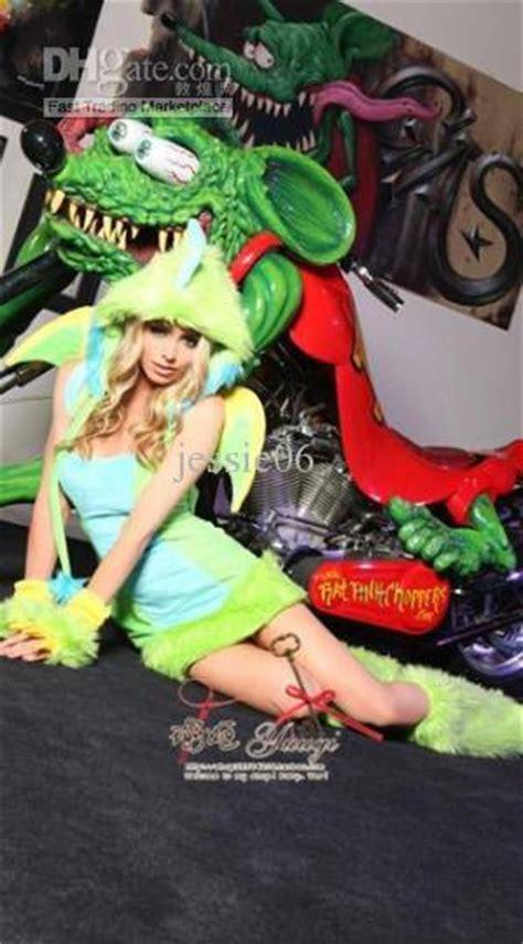 carnival women sexy plush furry dinosaur costumes