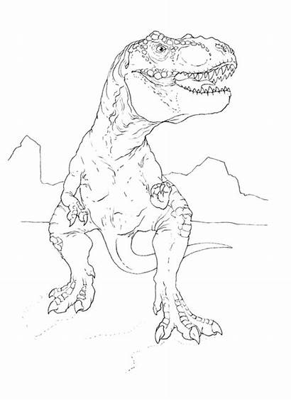 Rex Coloring Dinosaur Pages Forget Supplies Don