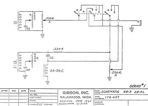 Gibson Eb3 Bas Wiring Diagram by Gibson Eb3 Circuit Schematics Series 1 Gt Gt Flyguitars