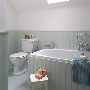 aqua tongue and groove bathroom housetohomecouk With tongue and groove wall panelling for bathrooms