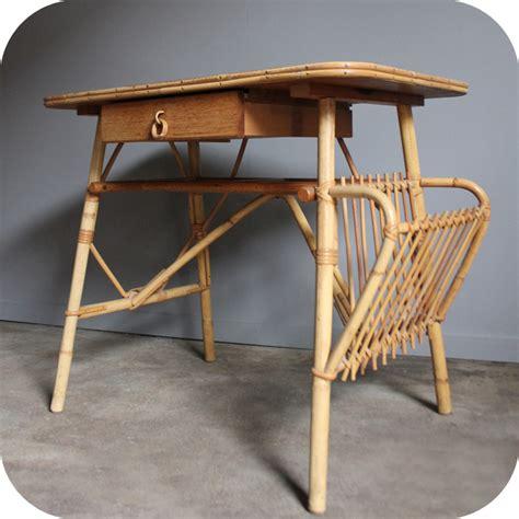 bureau rotin bureau vintage rotin c295 atelier du petit parc