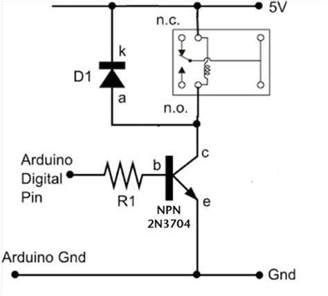 dc motors relays use arduino for projects