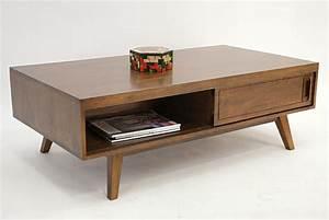 Table Basse Retro : table basse en hva massif vintage de qualit meuble pour le salon lotusa ~ Teatrodelosmanantiales.com Idées de Décoration