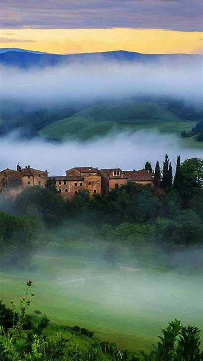 Tuscany Wallpapers Iphone Italy Clouds Mountains Val