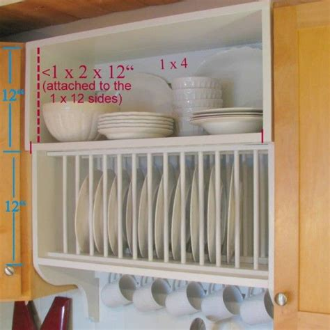 dimensions  plate rack cabinet diy kitchen furniture storage diy kitchen storage kitchen