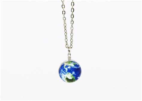Earth Necklace Blue Planet Earth Space Sky Special Galaxy