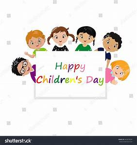 Vector Illustration Happy Childrens Day Graphic Stock ...