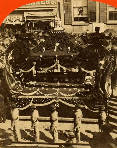 Lincoln Funeral Casket Abraham Procession President During