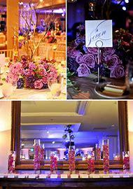 Purple and Lavender Wedding Reception