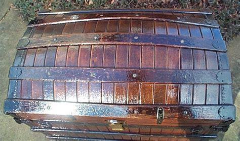 restored dome top trunk high arch oak slat