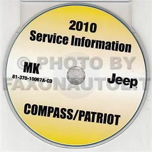 2010 Jeep Patriot And Compass Repair Shop Manual Cd