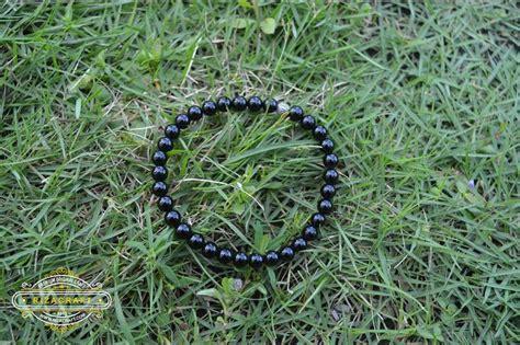 gelang batu butiran black onyx 6mm gelang tasbih batu hitam black onyx 33 jual gelang